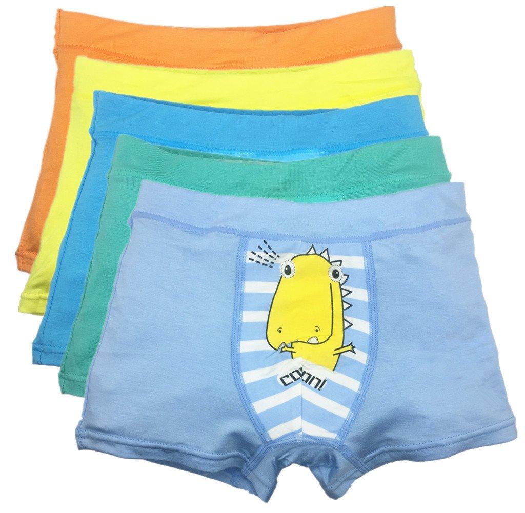 So Aromatherapy Boy's Boxer Briefs Comfortable Cotton Short Toddler Underwear 5 Pack (6-8 Years, C)
