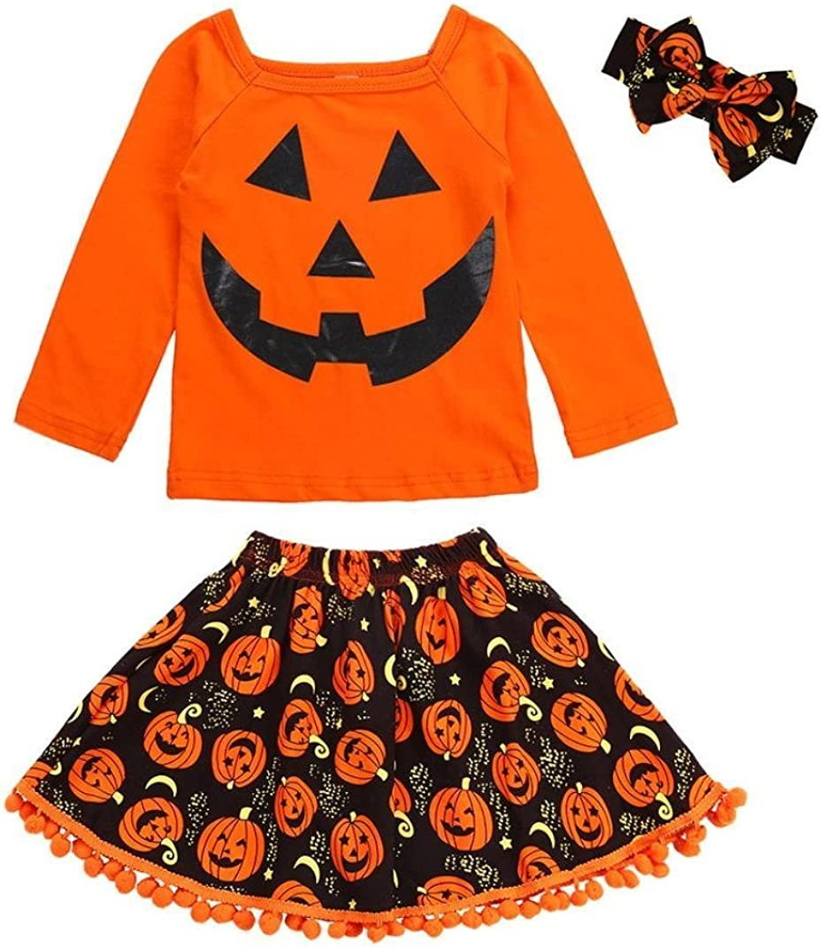 KONFA Toddler Baby Girls Romper+Tutu Dress+Headband,3Pcs Outfits Clothes Sets