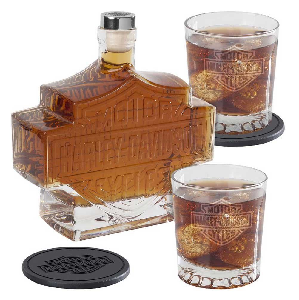 5-Pc. Harley-Davidson Whiskey Decanter Set
