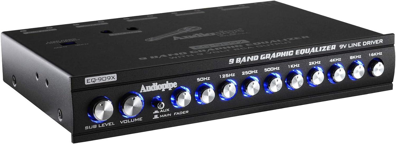 Audio Pipe 9-Band Parametric Car Audio Equalizer