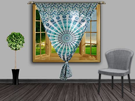 Tende Per Finestra Balcone : Handmade exports pavone mandala tende per finestra tende indiane