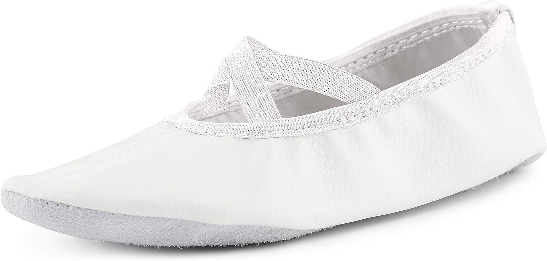 Ladeheid Chaussures de Ballet Ballerines Chaussons de Simili Cuir Gar/çon Fille et Femme LAJD001 Tailles 25-41
