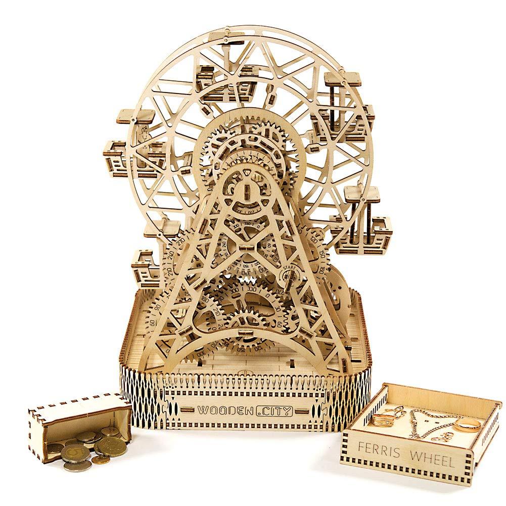 WOODEN CITY 3D Mechanical Wooden Model FERRIS WHEEL Puzzles & Geduldspiele