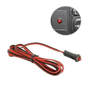 Smart home Red LED Flashing Dummy Alarm Warning Security Light 12v Dashboard Deterrent