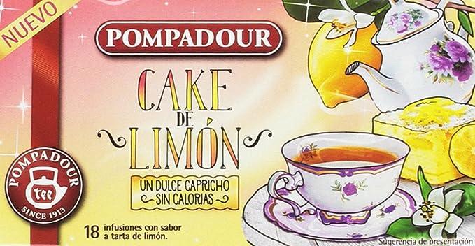 Pompadour Infusión Cake de Limón - Pack de 4 x 18 Bolsitas: Amazon ...