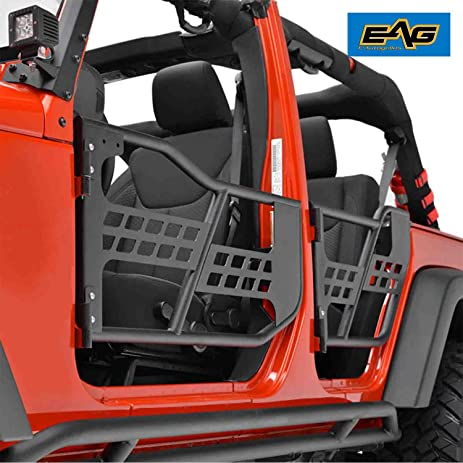 EAG Tubular Safari Doors Without Mirror for 07-17 Jeep Wrangler JK (4 Door & Amazon.com: EAG Tubular Safari Doors Without Mirror for 07-17 Jeep ...