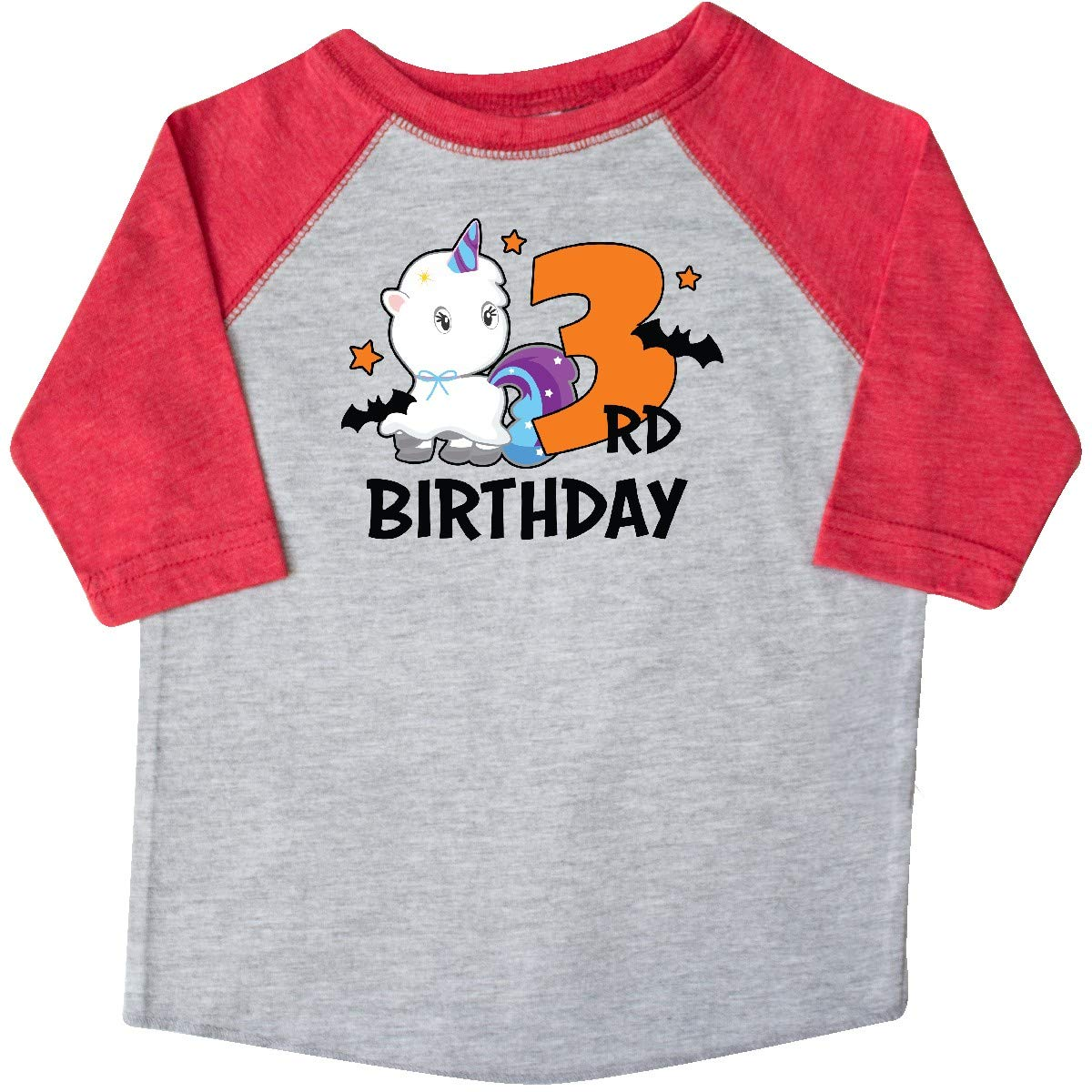 inktastic 3rd Birthday with Unicorn Ghost and Bats Toddler T-Shirt