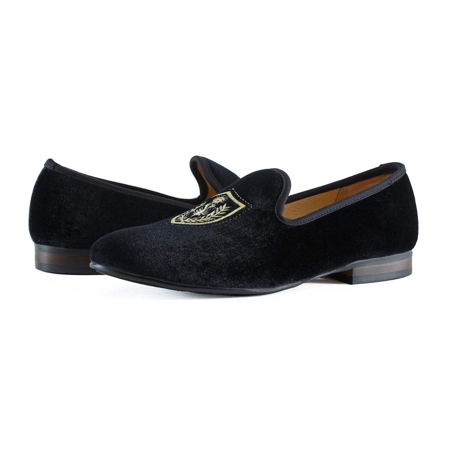 59b6297d3e9 Journey West Men s Vintage Velvet Loafers with Embroidery Loafers Men  Smoking Slippers Men Black Red Blue  Amazon.co.uk  Shoes   Bags