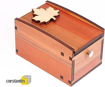 LOGICA GIOCHI Art. Radbox - El Arce - Constantin - Caja Secreta - Rompecabezas De Madera Preciosa - Dificultad 4/6 Extremo: Amazon.es: Juguetes y juegos