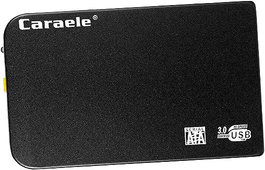 PETSOLA 2.5インチSATA外付けハードドライブ、データストレージ用ポータブルアルミニウムUSB 3.0超高速ハードドライブ - 黒500GB