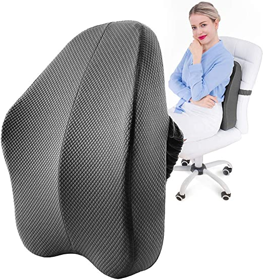 Memory Foam Lumbar Back Pain Support Cushion Pillow Home Car Office Seat Chair