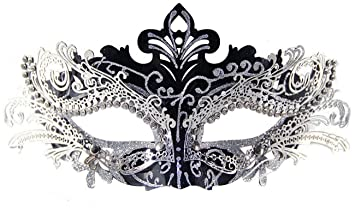 Mascaras Venecianas,Coofit Mascaras Carnaval Metal Laser-corte de Diamantes de Imitación Noche Baile