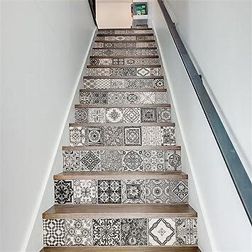 LianLe 13PCS 3D Stickers Auto-adhésif Autocollant d\'Escalier pour ...