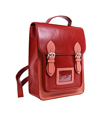 299fc3a437 New Ladies Girls Designer Fashion Satchel Backpack School College Work Bag ( Red Dusky Pink)  Amazon.co.uk  Shoes   Bags
