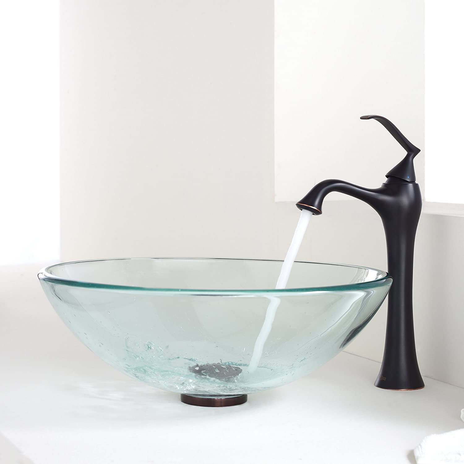 Kraus KEF 15000 PU15ORB Ventus Single Lever Vessel Bathroom Faucet With Pop  Up Drain Oil Rubbed Bronze   Bathroom Sink Faucets   Amazon.com
