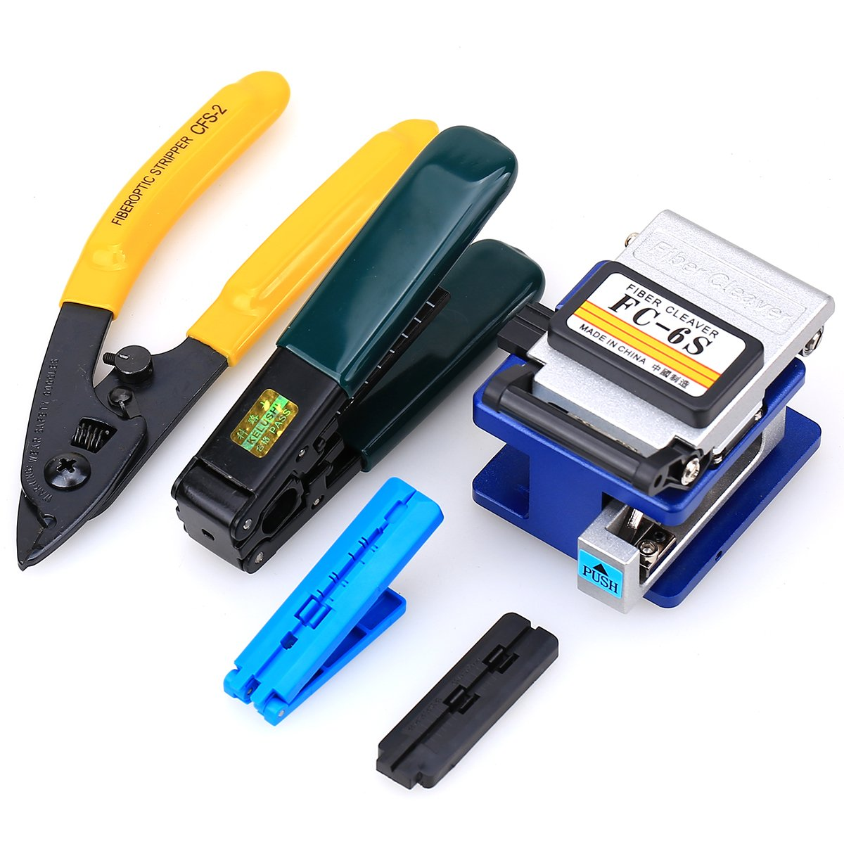 5 in 1 FTTH Fiber Optic Tool Kit FC-6S Fiber Cleaver Fiber