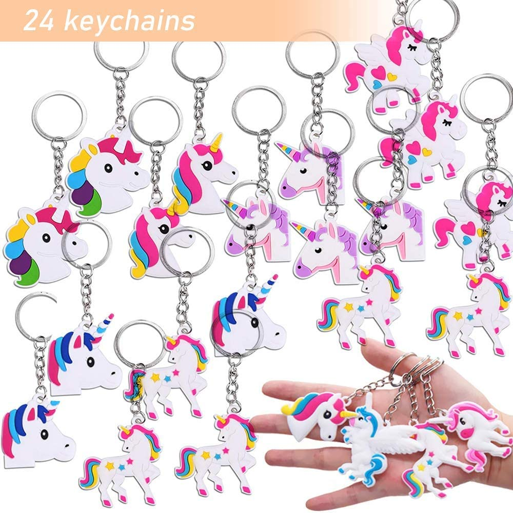 Perfect Unicorn Gifts Carnival Prizes for Girls Bracelets Rings 144 Pack Unicorn Party Favors for Kids Unicorn Party Supplies Birthday Decorations with Unicorn Masks Keychains Tattoos and Goodie Bags