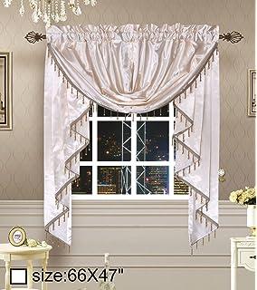 Curtains Ideas austrian valances curtains : Amazon.com: United Curtain Jewel Heavy Woven Austrian Valance, 108 ...