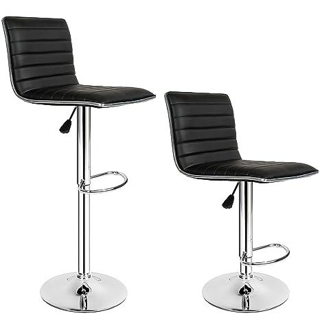 TecTake Sgabelli da bar moderni sgabello design cucina sedia regolabile -  modelli differenti - (2x\