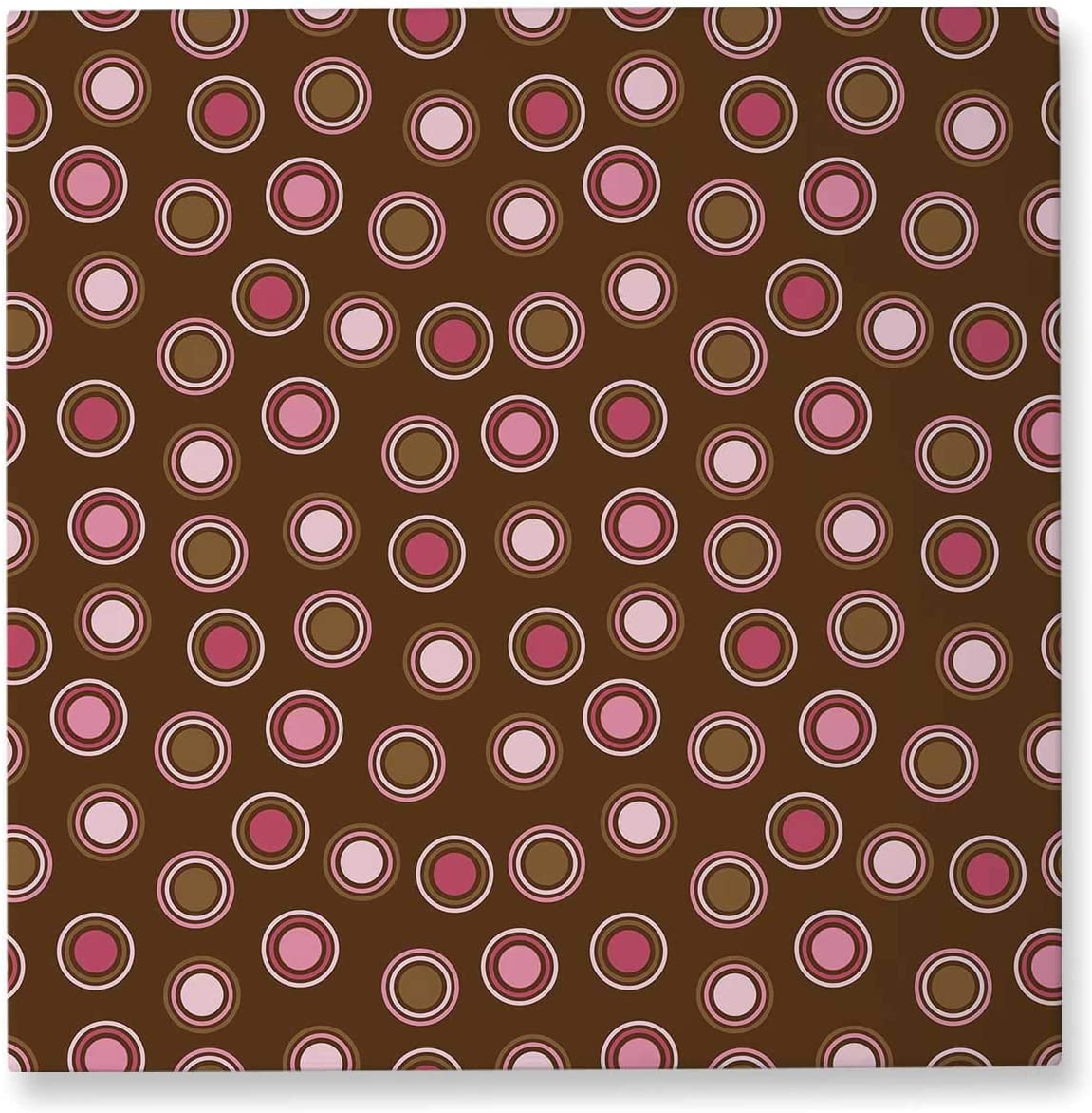 Pummelouty Brown and Polka Dot,Living Room Wall Decor Christmas Pictures for Wall 12x12