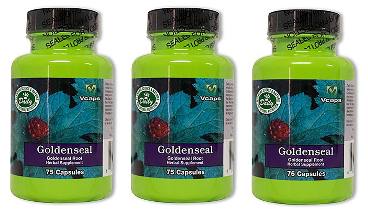 Daily Manufacturing Goldenseal Root Herbal Supplement 75 Capsules, 3 Pack