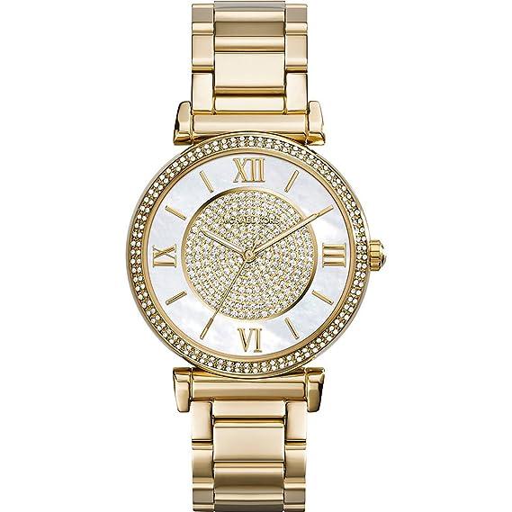 Michael Kors Reloj Analógico para Mujer de Cuarzo con Correa en Acero Inoxidable MK3332: Amazon.es: Relojes