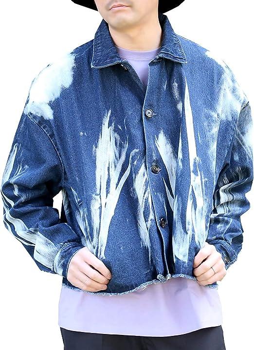 (アークティックプラント) Arctic Plant メンズ gジャン 綿100% ブリーチ デニム ビッグシルエット ショート丈 ジャケット