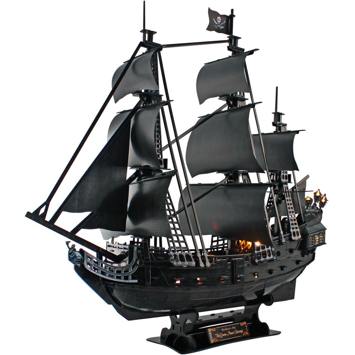 限定価格セール! (LED Queen Anne's Pcs Revenge) - - CubicFun L520h Queen Anne's Queen Revenge Pirate Ship Model Kit (with LEDs) 3d Puzzle, Large 340 Pcs B072Z7M7JZ, BEATIFIC-STORE:fd578430 --- a0267596.xsph.ru