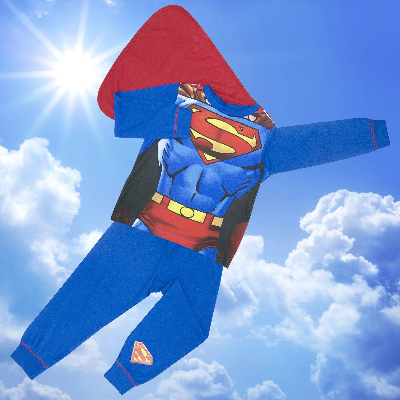 Niños Pijamas Superman con desmontable del Cabo - Edades 2- - 5-6 years / 116 cm: Amazon.es: Ropa y accesorios