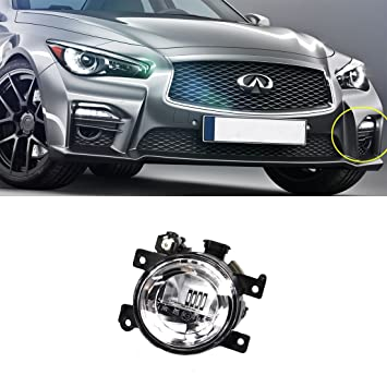 Vakabva 261554GA0A Infiniti Q50 Fog Light Lamp Left Driver Side for