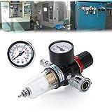 "Zipom Filter Pressure Regulator 1/4"" BSP Air Gauge Water Trap for Compressor and Air Tools"