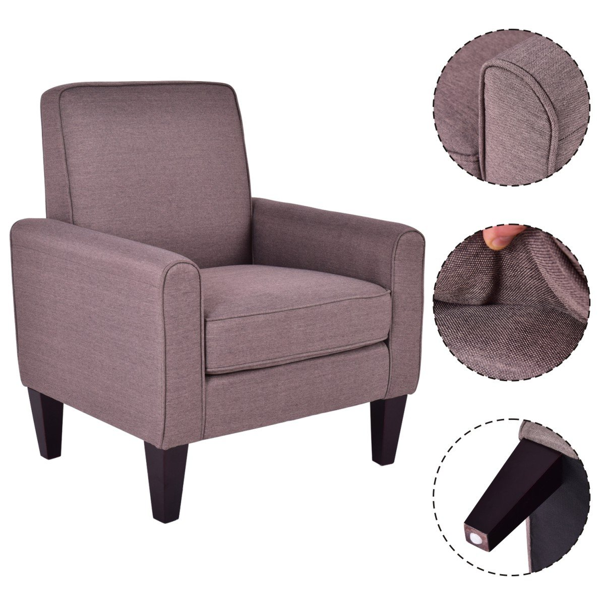 Leisure Upholstered Lounge Chair- Modern In Designs