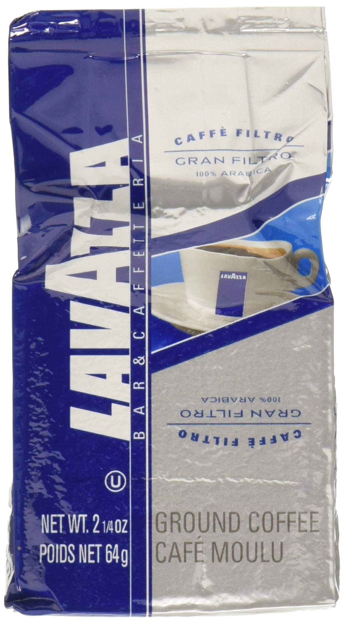 Lavazza Gran Filtro Ground Coffee Blend, Medium Roast, 2.25-Ounce Bags (Pack of 30) by Lavazza