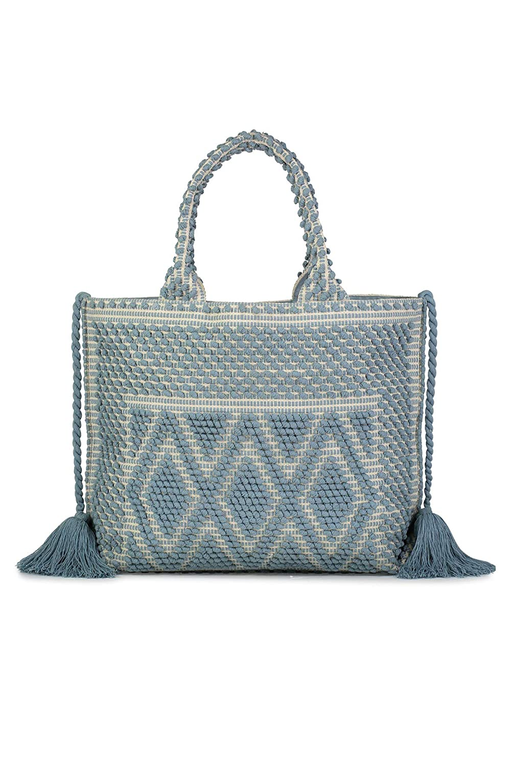 Roller Rabbit Ara Woven Tote Blue One
