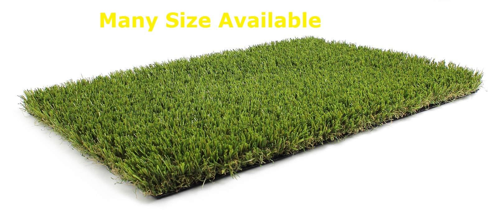 Synturfmats 4'x8' Artificial Grass Carpert Rug - Premium Indoor / Outdoor Green Synthetic Turf, 4-Toned Blades