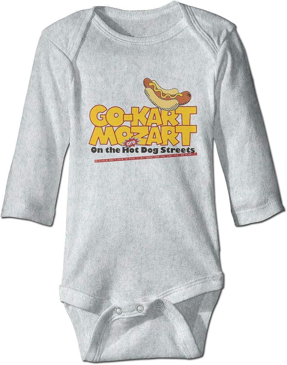Marsherun Newborn Baby Boys Girls Hot Dog Long Sleeve Rompers Playsuits