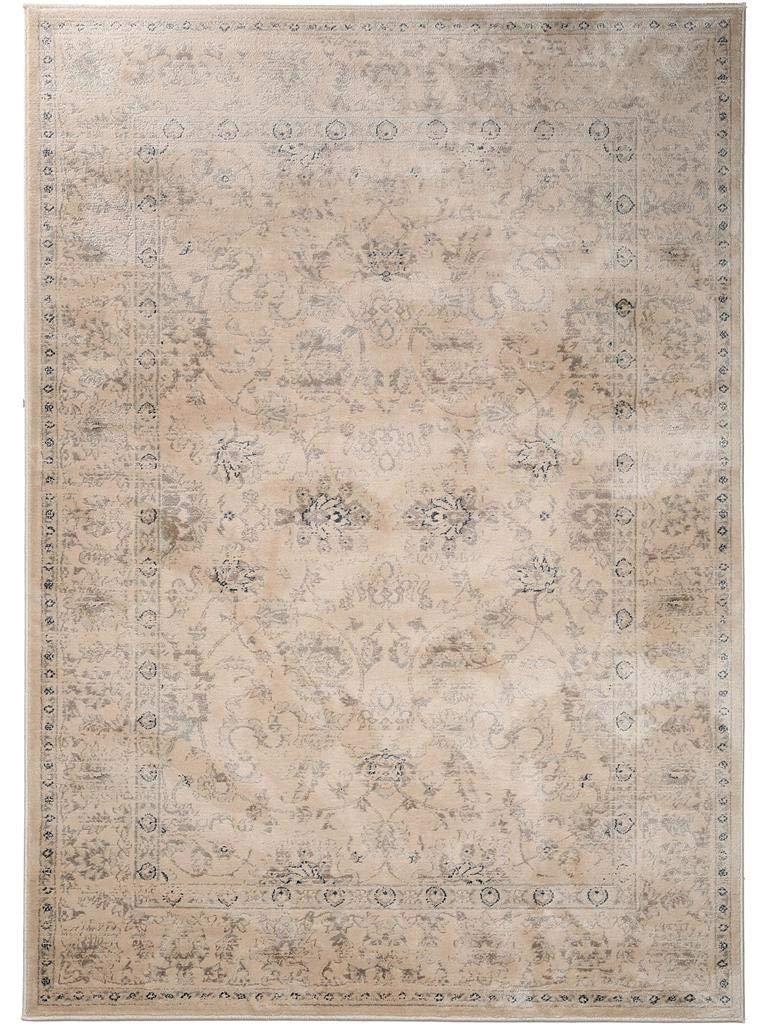 Benuta 4053894362798 Vintage Teppich im Used-Look Velvet Taupe 160x230 cm   Moderner Teppich für Schlafzimmer und Wohnzimmer