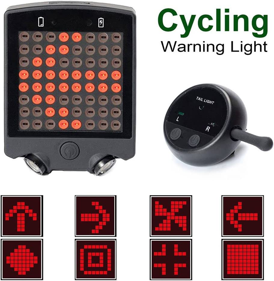 Bicycle Bike Rear LED Tail Turn Signal Light With Remote Control US STOCK