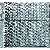 Boxes Fast BFINM665 Cool Shield Insulated Bubble Mailers, 6'' x 6 1/2'', Silver (Pack of 100)