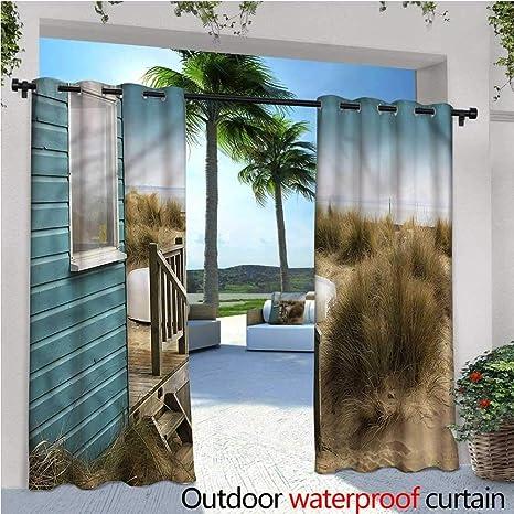 Cortina de privacidad para pergola de Verano y Exterior, diseño de Dibujos Animados, Aislante térmico, Repelente al Agua, para balcón: Amazon.es: Jardín