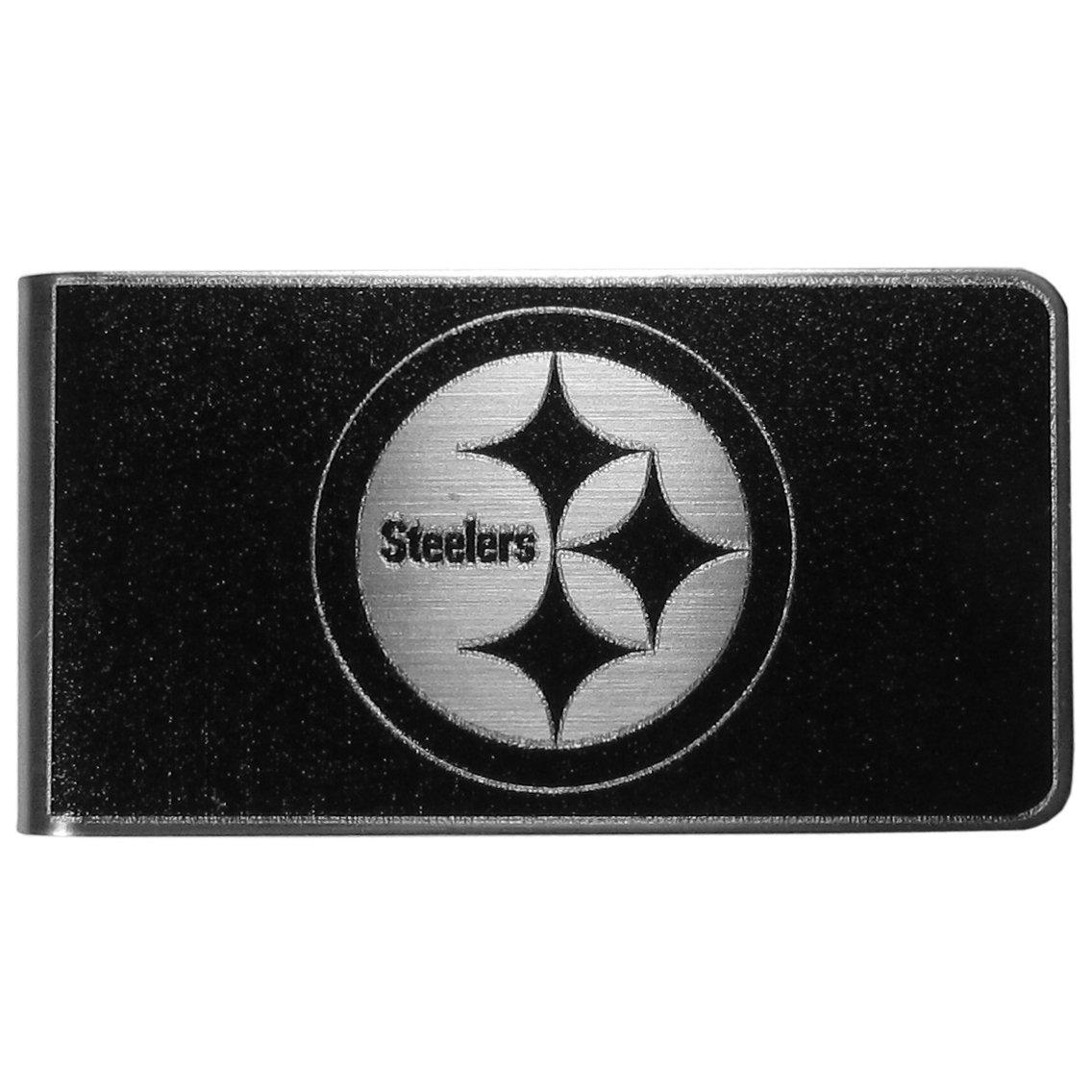 Siskiyou Herren Sport Pittsburgh Steelers Stahl Geld Clip, groß, Schwarz groß Siskiyou Gifts Co Inc. FBKM160
