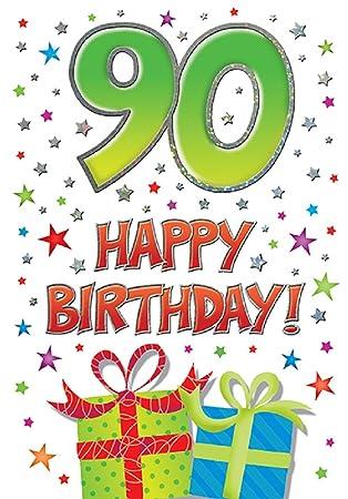 piccadilly Tarjeta de 90 cumpleaños: Amazon.es: Juguetes y ...