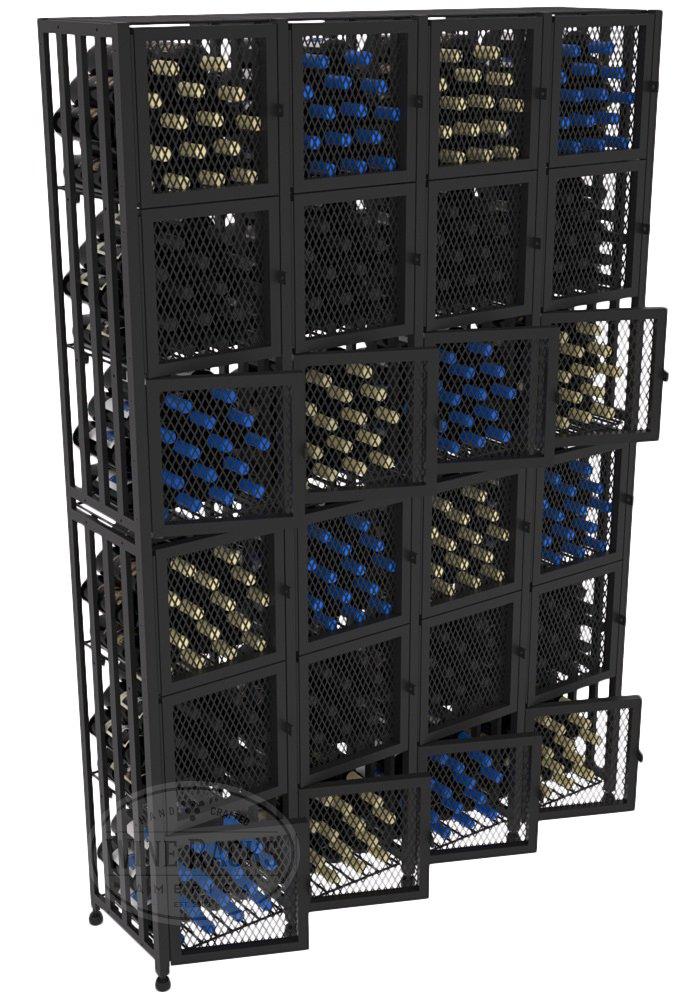 VintageView Case & Crate Metal Wine Rack Locker - Full Height - Capacity 384 Bottles