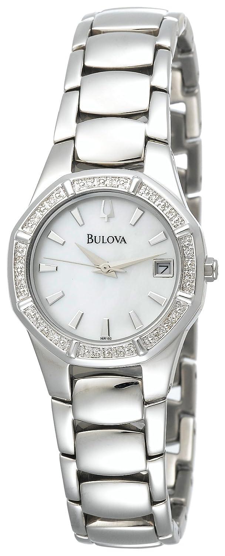 Amazon.com: Bulova Women's 96R102 Diamond Accented Calendar Watch: Bulova:  Watches