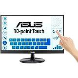 ASUS ディスプレイ 21.5インチ 10点タッチパネル液晶モニターVT229H(IPS/75HZ/フレームレス/HDMI,D-Sub/USBポート/VESA/ブルーライト軽減/3年保証)