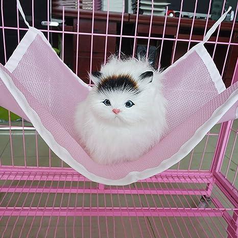 VANKER gato hamaca cama de mascotas transpirable malla colchón hamaca cama