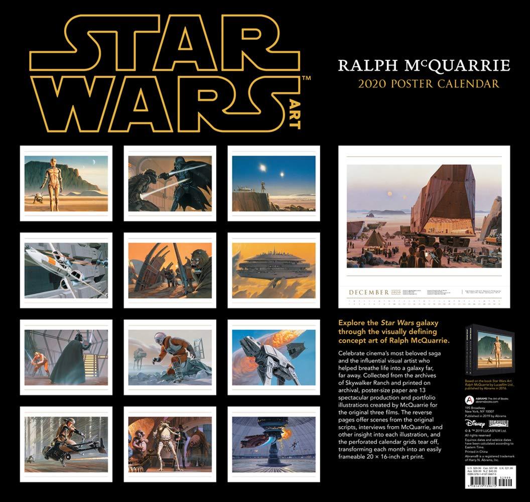 Amazon Com Star Wars Art Ralph Mcquarrie 2020 Poster Calendar 9781419739675 Mcquarrie Ralph Books