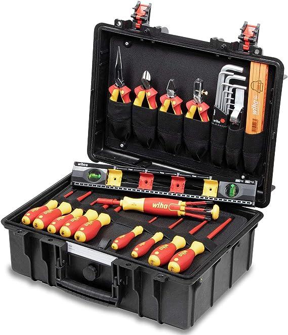 Wiha 44505 - Maletín de montaje con herramientas eléctricas (34 piezas): Amazon.es: Electrónica