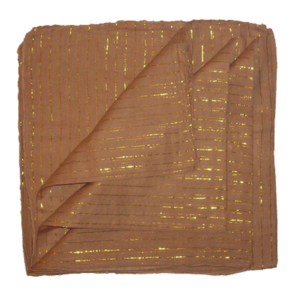 Freak Scene Sciarpa di cotone ° unicolore ° lurex oro ° stoffa quadrata Tu0202