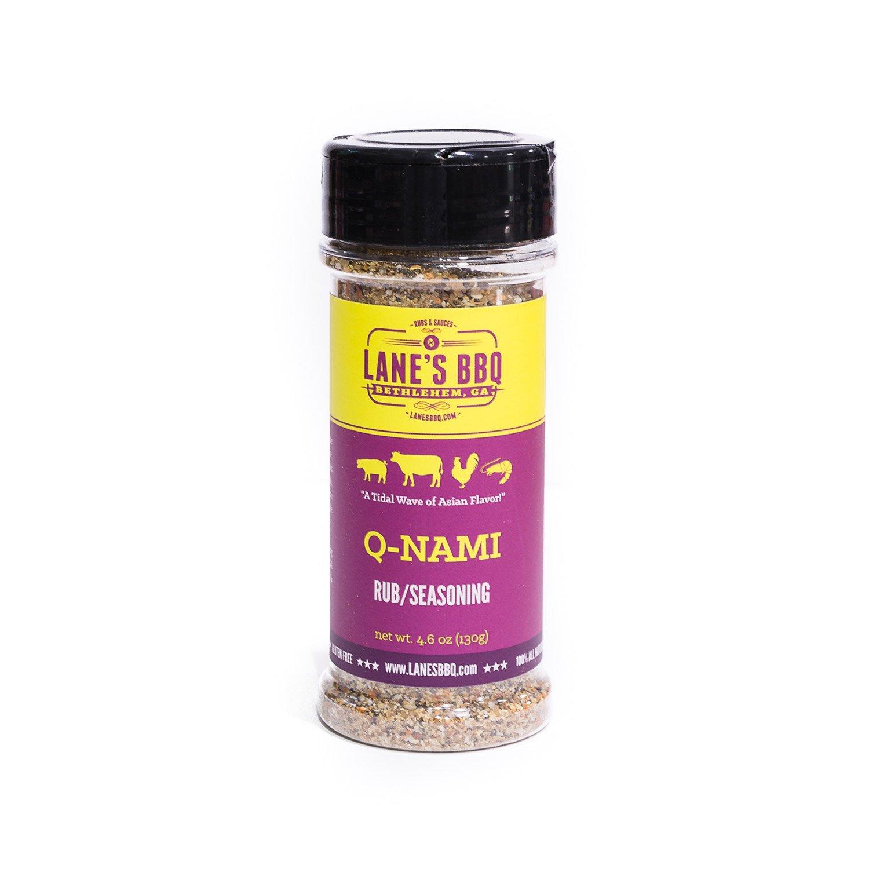 Lane's BBQ Q-NAMI Rub Seasoning | Asian Flavor | Gluten Free | No MSG or Preservatives (4oz)